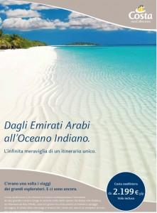 Dagli Emirati Arabi all'oceano indiano in crocera