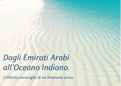 Dagli Emirati Arabi all'oceano indiano in crocera